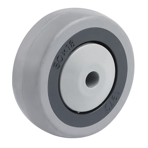 Equipment solid rubber wheels with thread guards and ball bearing
