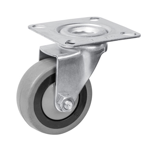 Equipment swivel castors with rubber wheels and ball bearing