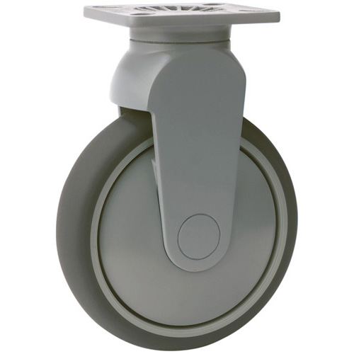 TANGO fixed castors with thermoplastic rubber wheels and ball bearing