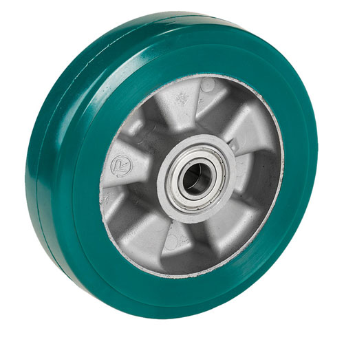 Heavy duty - Cast Supersoft-Polyurethane wheels with precision ball bearing