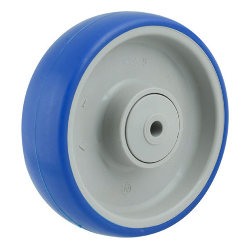 Soft Blue series - Polyurethane wheels with ball bearing  -  Ø 80 - 125 mm