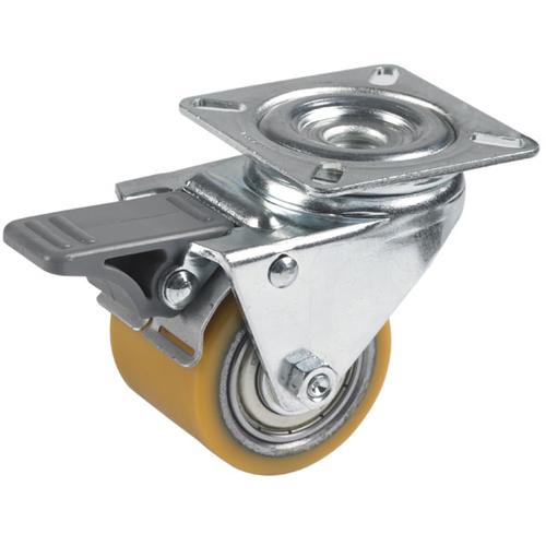 Figaro theatre swivel castors with total brake,polyurethane wheels +ball bearing