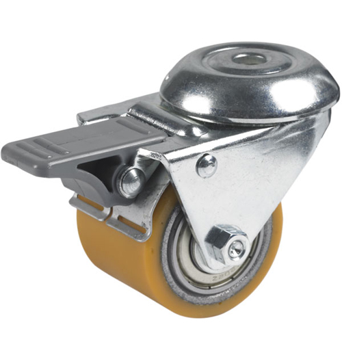 Figaro theatre swivel castors, bolt hole, total brake, polyurethane wheels +BB