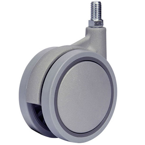 SWIFT swivel castors with threaded stem and plain bearing
