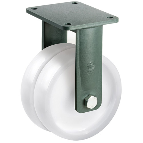 PREMIUM XXL Fixed castors with polyamide wheel and ball bearing