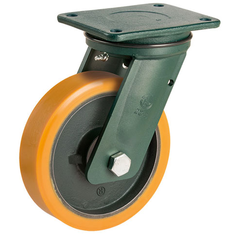 PREMIUM L swivel castors with polyurethane wheel and ball bearing