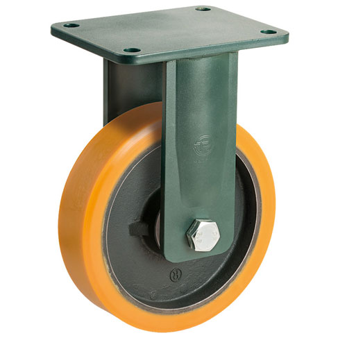 PREMIUM L fixed castors with polyurethane wheel and ball bearing