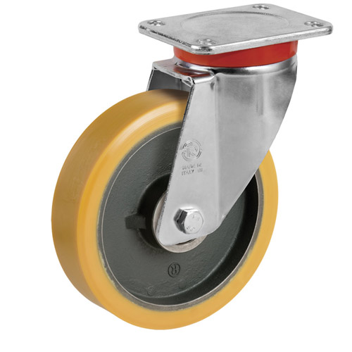 STRONG Swivel castors with polyurethane wheel, with ball bearing