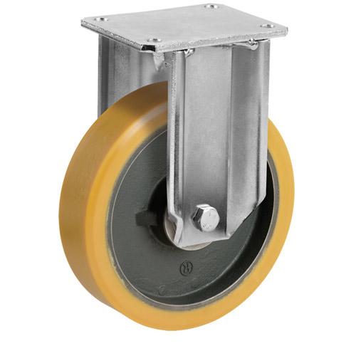 STRONG Fixed castors with polyurethane wheel, with ball bearing
