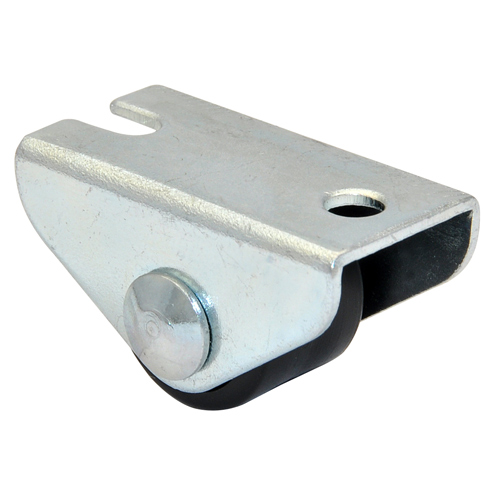 Mini Fixed castors with plain bearing, with hard or soft tread