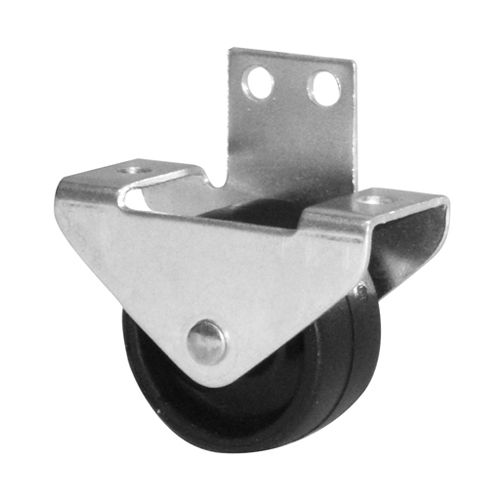 Castors for bed frames with plain bearing, available with hard or soft tread