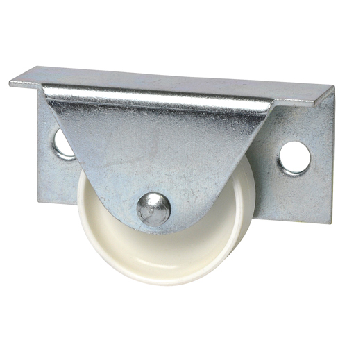 Castors for bed frames with plain bearing, with hard tread