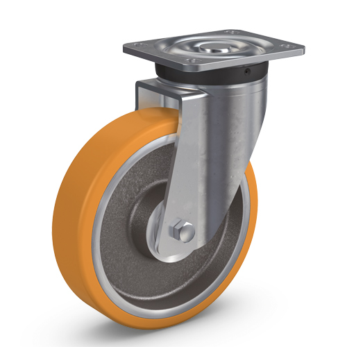PREMIUM S /M swivel castors with polyurethane wheel and ball bearing