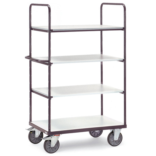 ESD Heavy Load Trolleys with 4 shelves, height 1800mm - Conductive