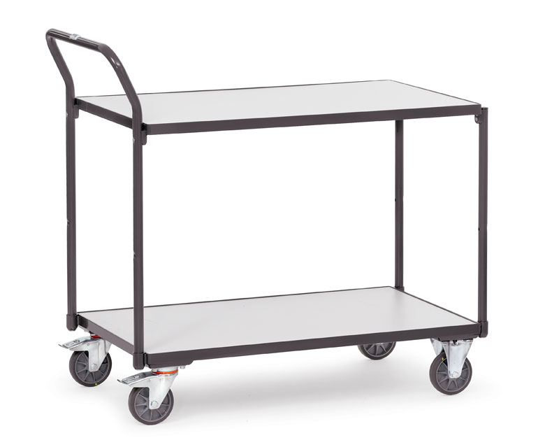 ESD Table Trolleys with 2 shelves with 5mm edge -  Conductive