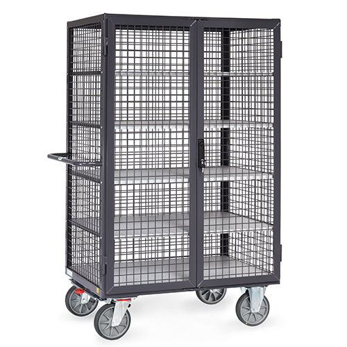ESD Box Cart with TOTALSTOP standard, electrically conductive