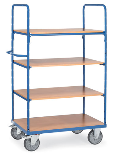 Shelf trucks Extra High (1800 mm) with 4 shelves - available in 3 sizes
