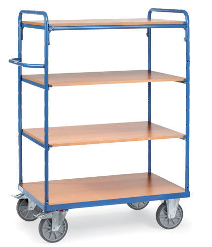 Shelf trucks with 4 shelves - available in 4 sizes