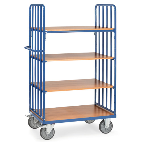 Shelved trolley with 4 shelves, extra high 1800mm