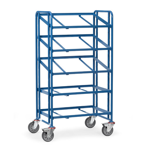 Euro box cart 820x610mm with 5 platforms variable use, open frame