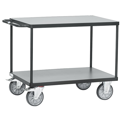 Table trolleys 500-600 kg, with 2 platforms GREY EDITION