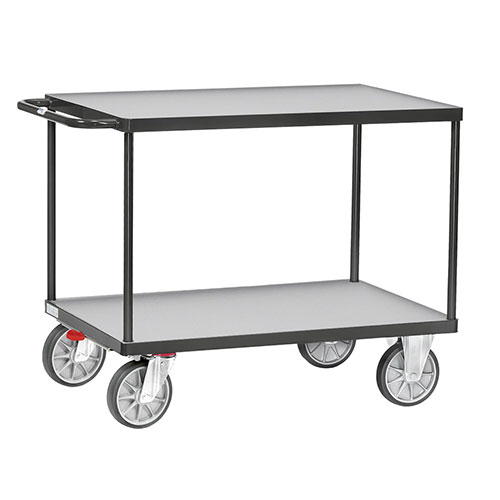 Table trolley 500 kg, GREY EDITION, incl. TOTAL STOP ** Anniversary campaign **