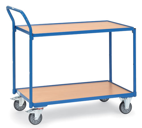 Light Table truck with 2 shelves - Load capacity 300 kg
