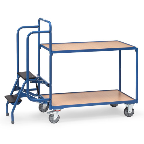 Step Picking Trolley with 2 fixed plywood shelves