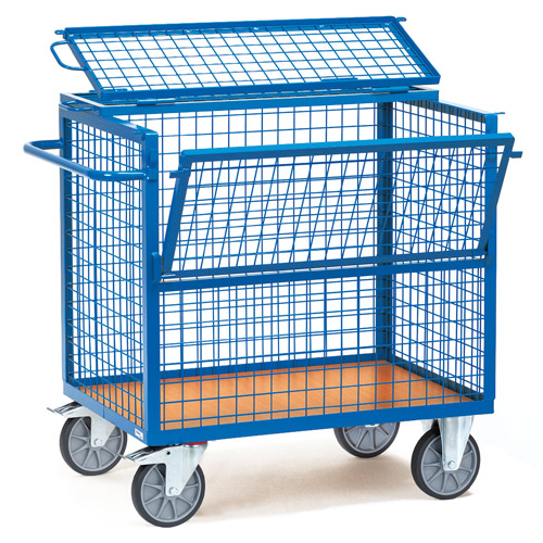 Wire cage Cart - Load capacity 600 kg - available in 2 sizes, with cover