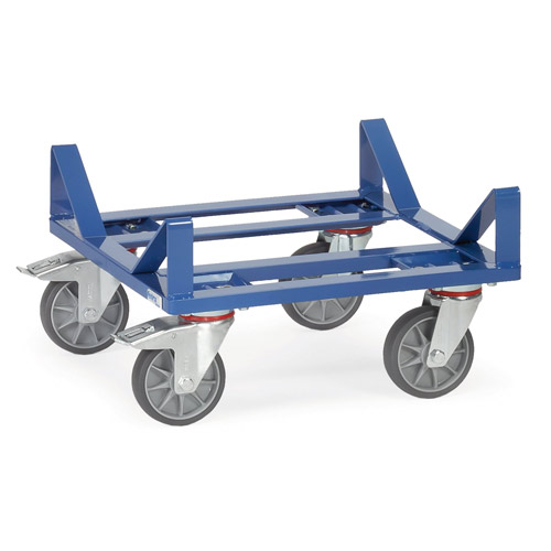 Bale cradle dolly, platform size 500x500mm, with cradle for reels