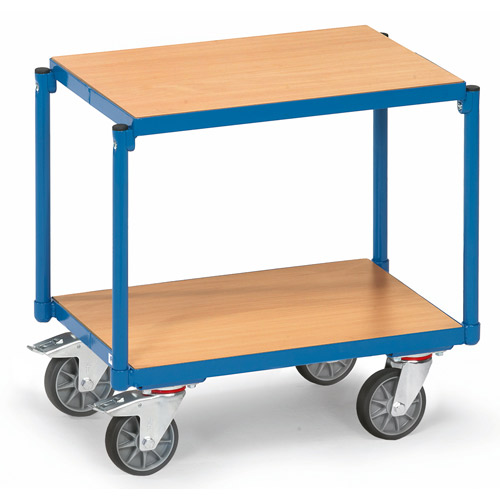 Euro Box Trolley with 2 platforms 605x405mm, flush with frame