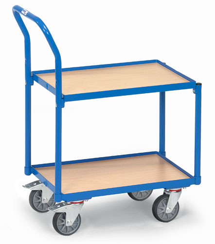 Euro Box Trolley with handle suitable for 2 Euro Boxes size 600x400 mm