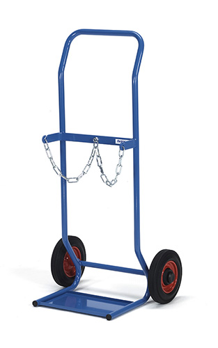 Steel bottle trolley for 2 bottles, each 10 litres contents