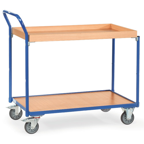 Light table top carts, with 1 box, high push bar