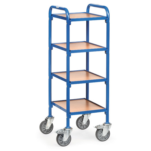 Storage trolley 320x470mm with 4 timber shelves