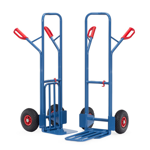 Parcel carts 300 kg, height 1300 mm, tubular steel and collapsible lifting blade