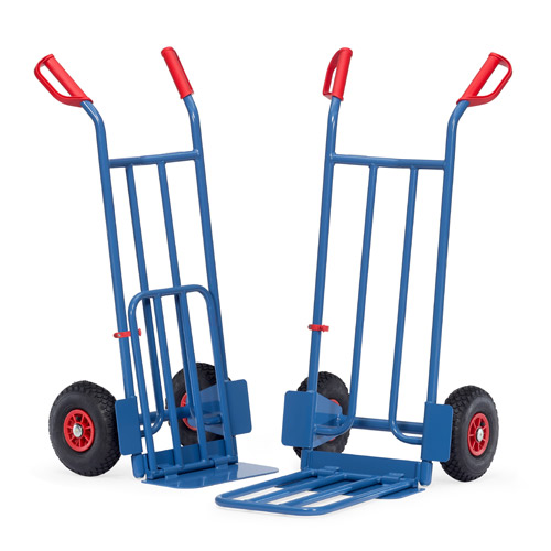 Parcel carts 250 kg, height 1150 mm, tubular steel and collapsible lifting blade