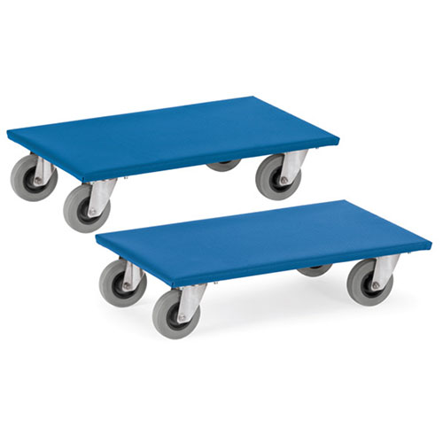 Dollies for furniture with rubber wheels - Price is for 2 pcs.