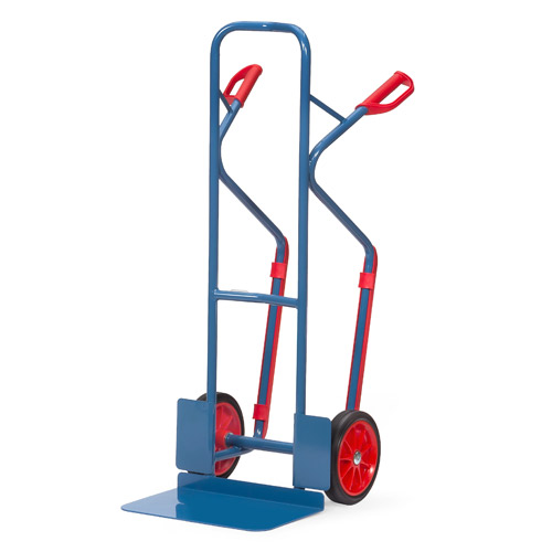 Tubular steel trucks 300 kg, height 1300 mm, large blade and plastic skids
