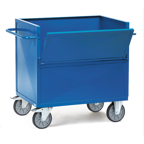 Sheet steel box carts, available in 2 sizes