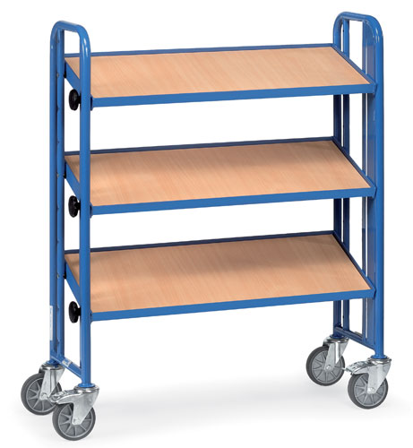 Assembly Trolleys 900x315mm One-side construction, 3 timber shelves