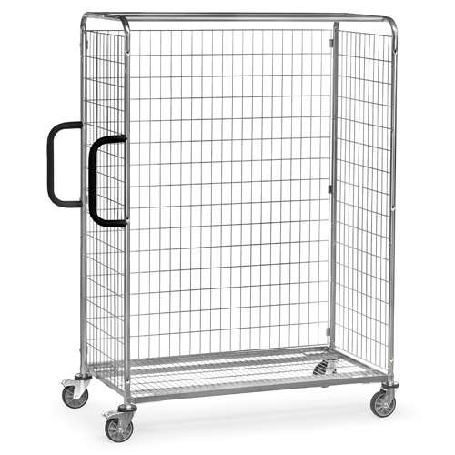 Screwable back wall for storeroom trolleys, height 1825mm