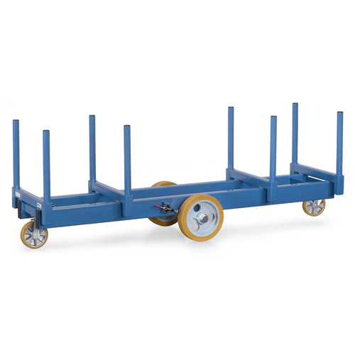 Trolley for long goods 3000 kg with stanchions 500 mm long