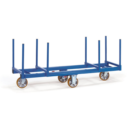 Trolley for long goods, with stanchions 500 mm long