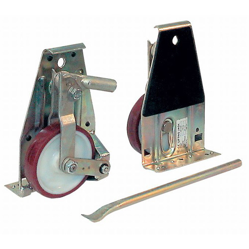 Lifting Rollers Set, Load capacity 2x500 kg - Packing unit: 2 Rollers + 1 lever