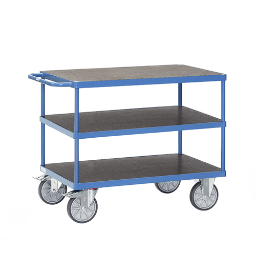 Table trolleys 500-600 kg, with 3 waterproof platforms.