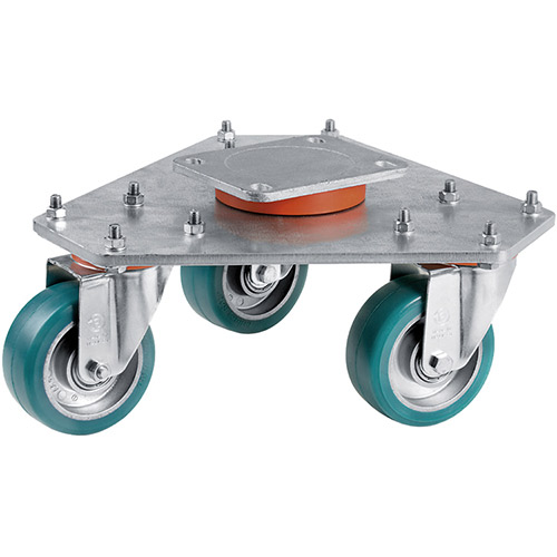 Stage Swivels with supersoft-polyurethane wheels green