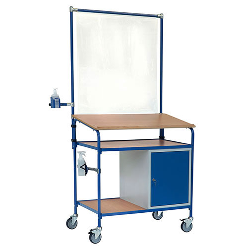 Rolling desk with equipment for infection protection