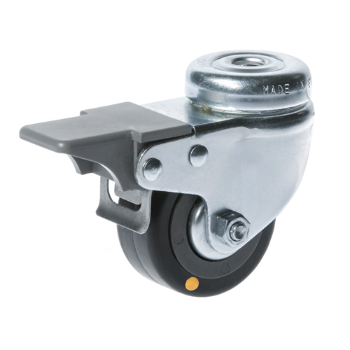 Conductive swivel castors, bolt hole and total brake with rubber wheels