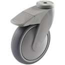TANGO swivel castors, bolt hole, total brake,highly elastic rubber wheels + BB